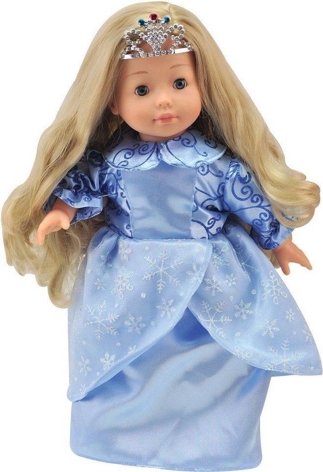 Dimian Puppe mit Sprachfunktion und Schlafaugen, »Bambolina Molly Ice Princess« in blau