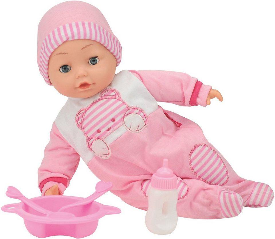 Dimian Babypuppe mit Sprachfunktion und Schlafaugen, »Bambolina Camelia Puppe« in weiß/rosa