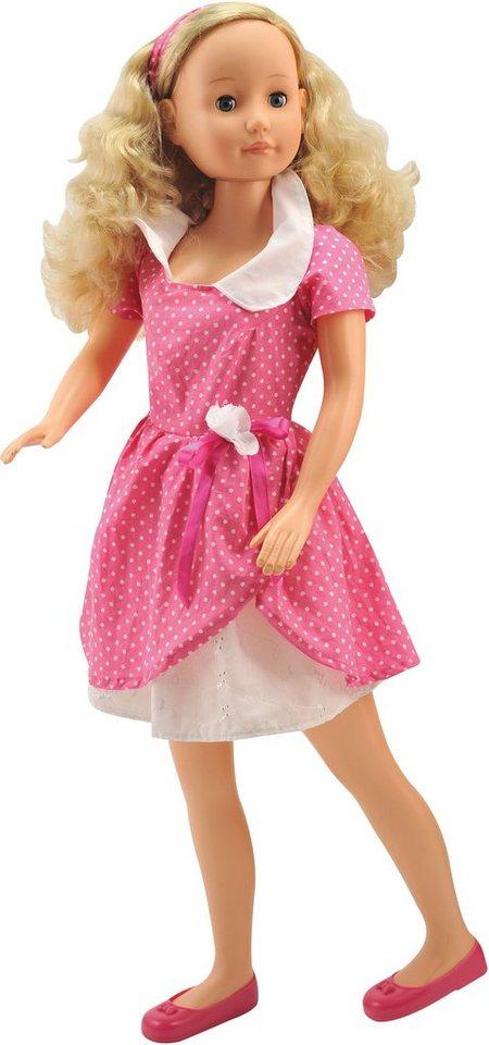 Dimian Große Spielpuppe mit Schlafaugen, »Bambolina Molly 90 cm Puppe« in pink/weiß