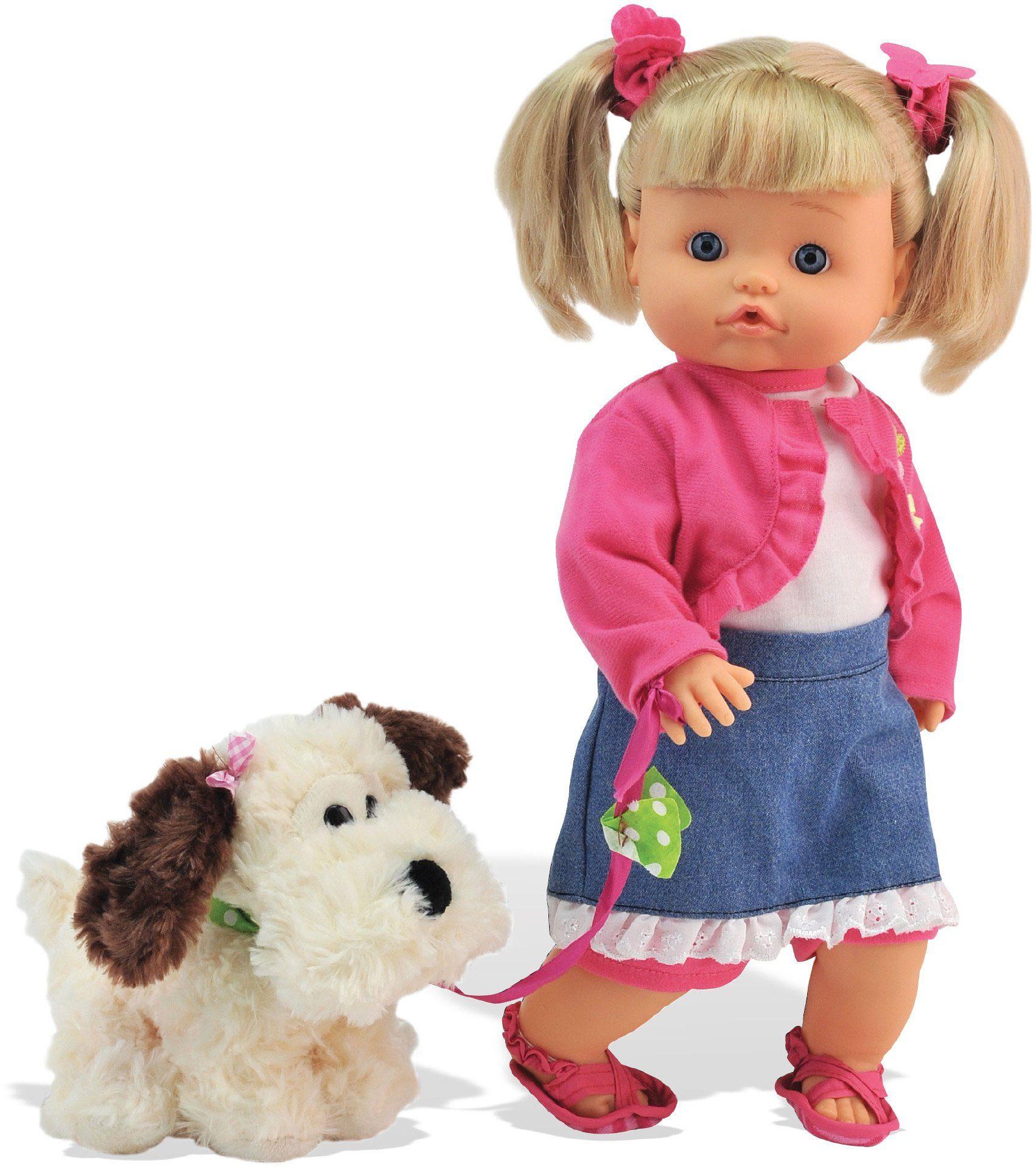 Dimian Puppe mit Stofftier Hund, »Bambolina Nena Pipì Popò Puppe«