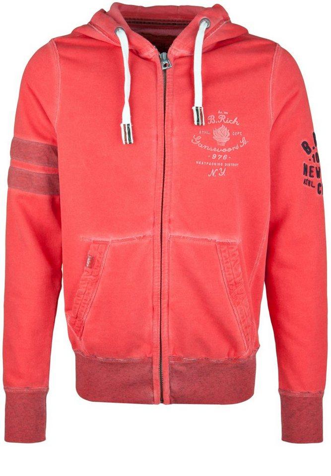 Better Rich Kapuzensweatjacke »HOODED JACKET FLAME« in scarlet red