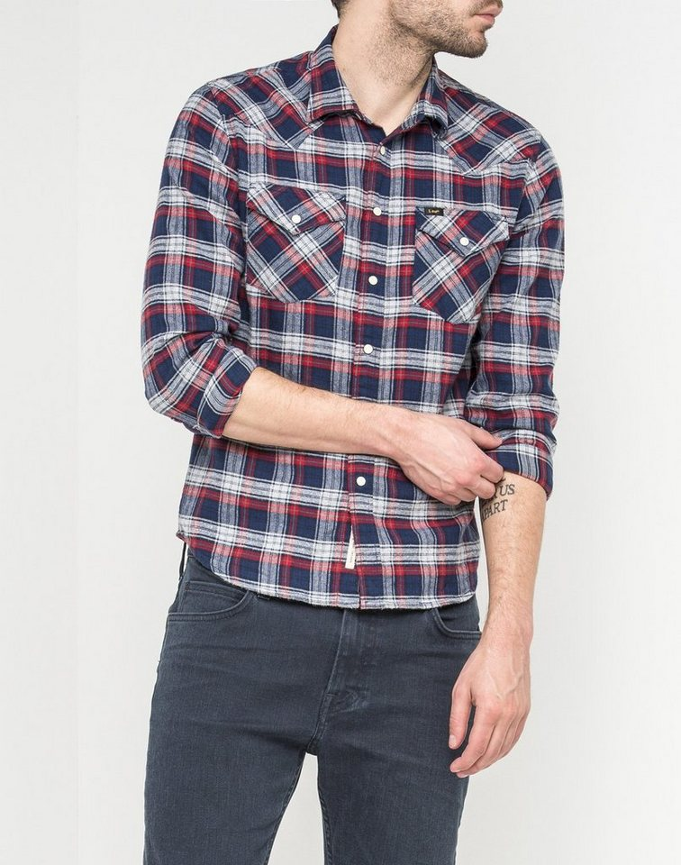 Lee Hemd »LEE WESTERN SHIRT BRIGHT NAVY« in blau