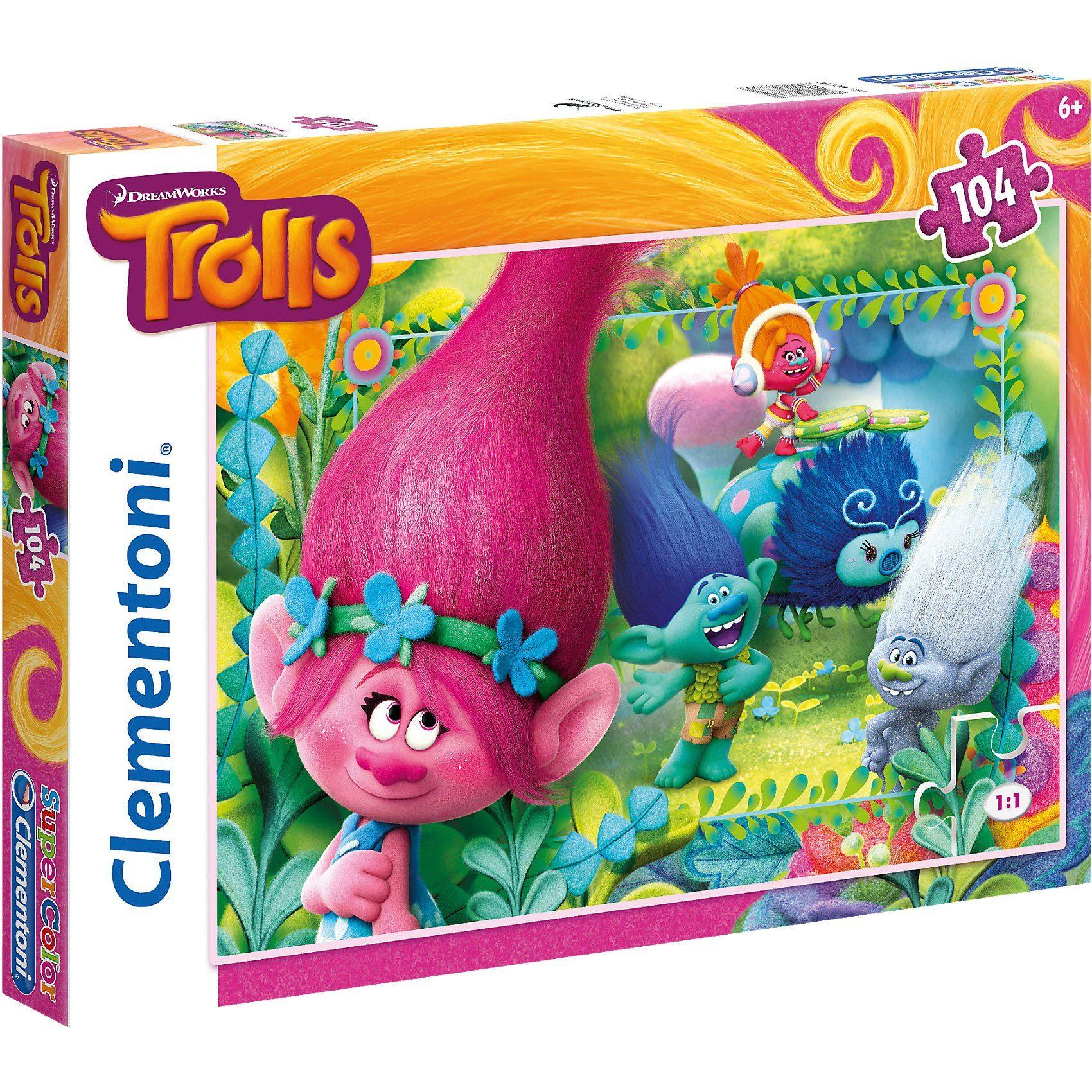 Clementoni® Puzzle 104 Teile - Trolls