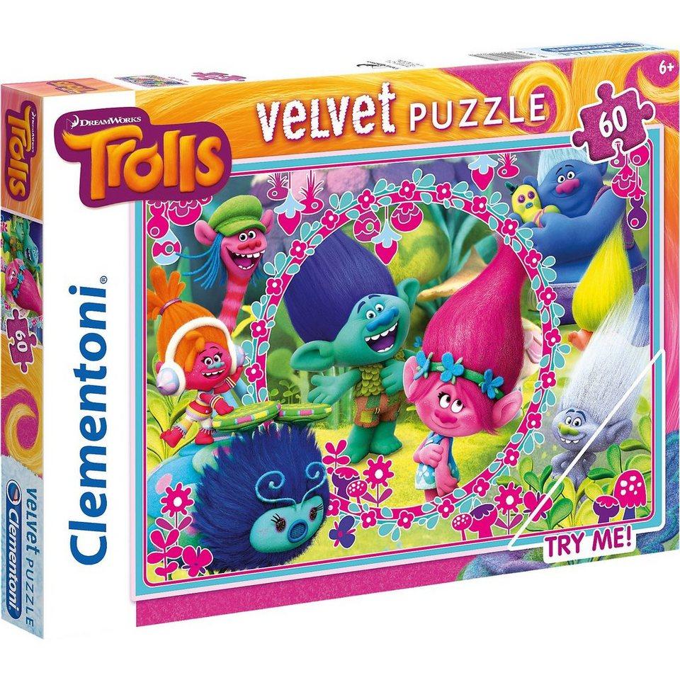 Clementoni Velvet Puzzle 60 Teile - Trolls