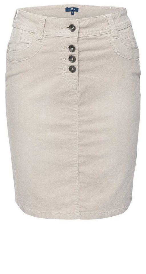 TOM TAILOR Rock »casual velvet skirt« in light dove grey