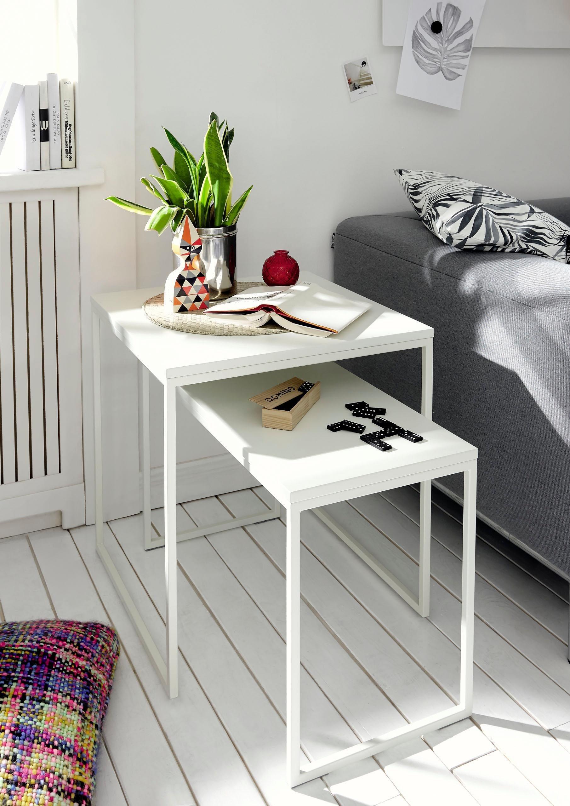 now! by hülsta Couchtisch »CT 17« zeitloses Design in hochwertiger Verarbeitung | Wohnzimmer > Tische > Couchtische | Coffee - Weiß | Metall - Holzwerkstoff - Pulverbeschichtet | now! by hülsta