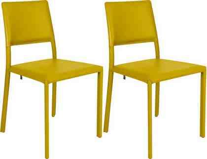 now! by hülsta Stühle, 2er-Set »S 18« Metallgestell mit Bezug aus regeneriertem Leder