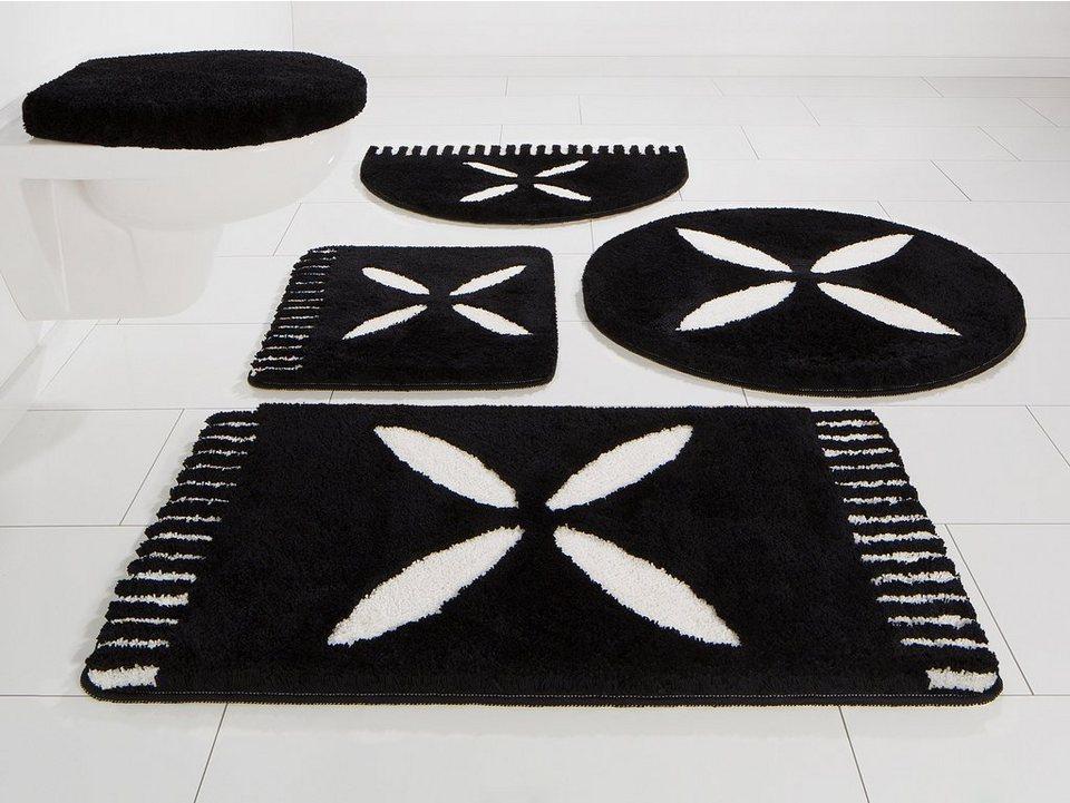 Badematte, Bruno Banani, »Svenla«, Höhe 20 mm, Microfaser, rutschhemmender Rücken in schwarz