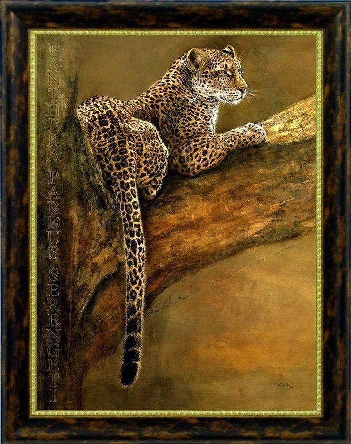 Premium Picture Wandbild »Leopard auf Baumast«, 60/80 cm