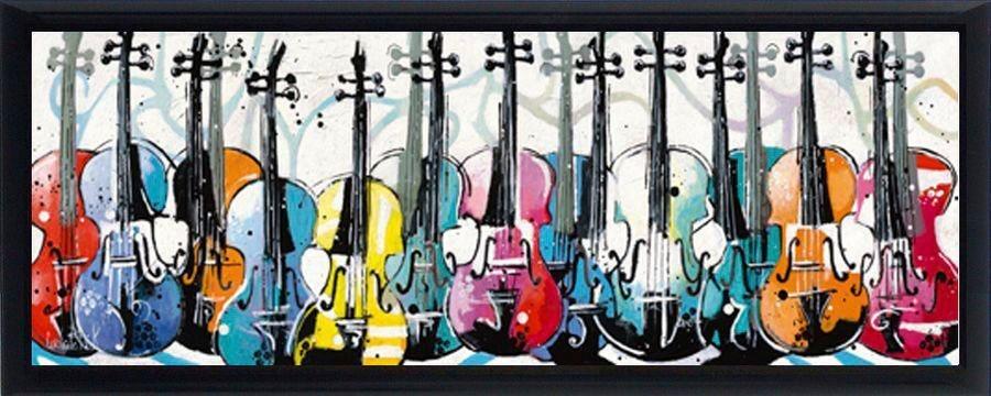 Premium Picture Schattenfugenbild »Mehrere Cellos«, 95/33 cm in bunt