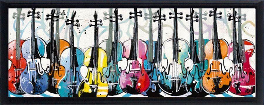 Premium Picture Schattenfugenbild »Mehrere Cellos«, 95/33 cm