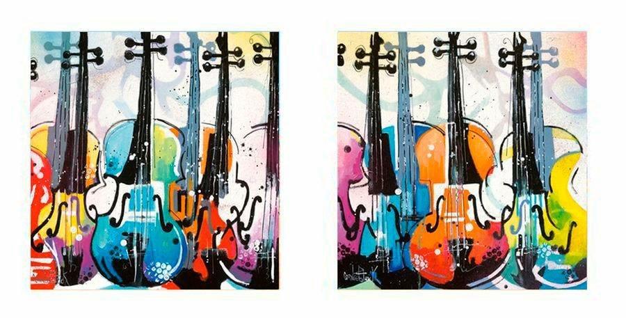 Premium Picture Deco-Panel »Cellos«, 2x 30/30 cm in bunt