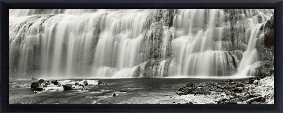 Premium Picture Schattenfugenbild »Wasserfälle«, 95/33 cm in weiß/grau
