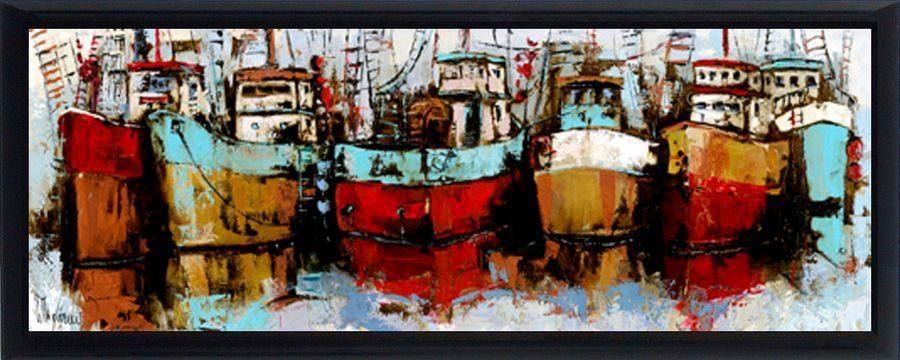Premium Picture Schattenfugenbild »Boote«, 95/33 cm