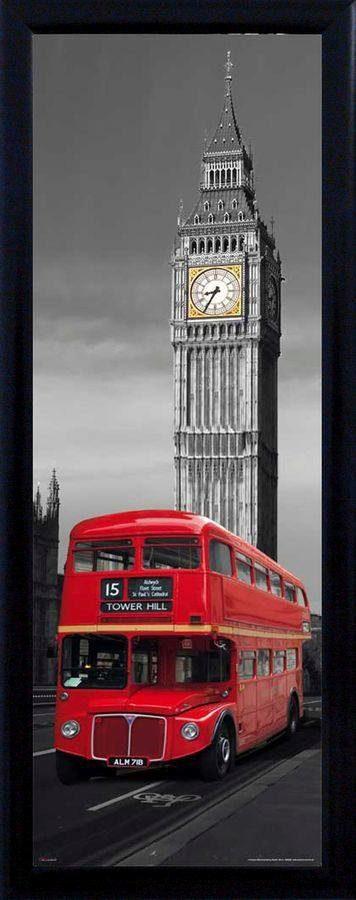 Premium Picture Schattenfugenbild »Big Ben/London Bus«, 30/90 cm