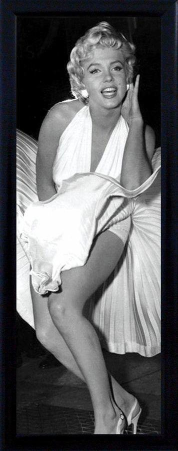 Premium Picture Schattenfugenbild »Marilyn Monroe«, 30/90 cm in weiß/schwarz