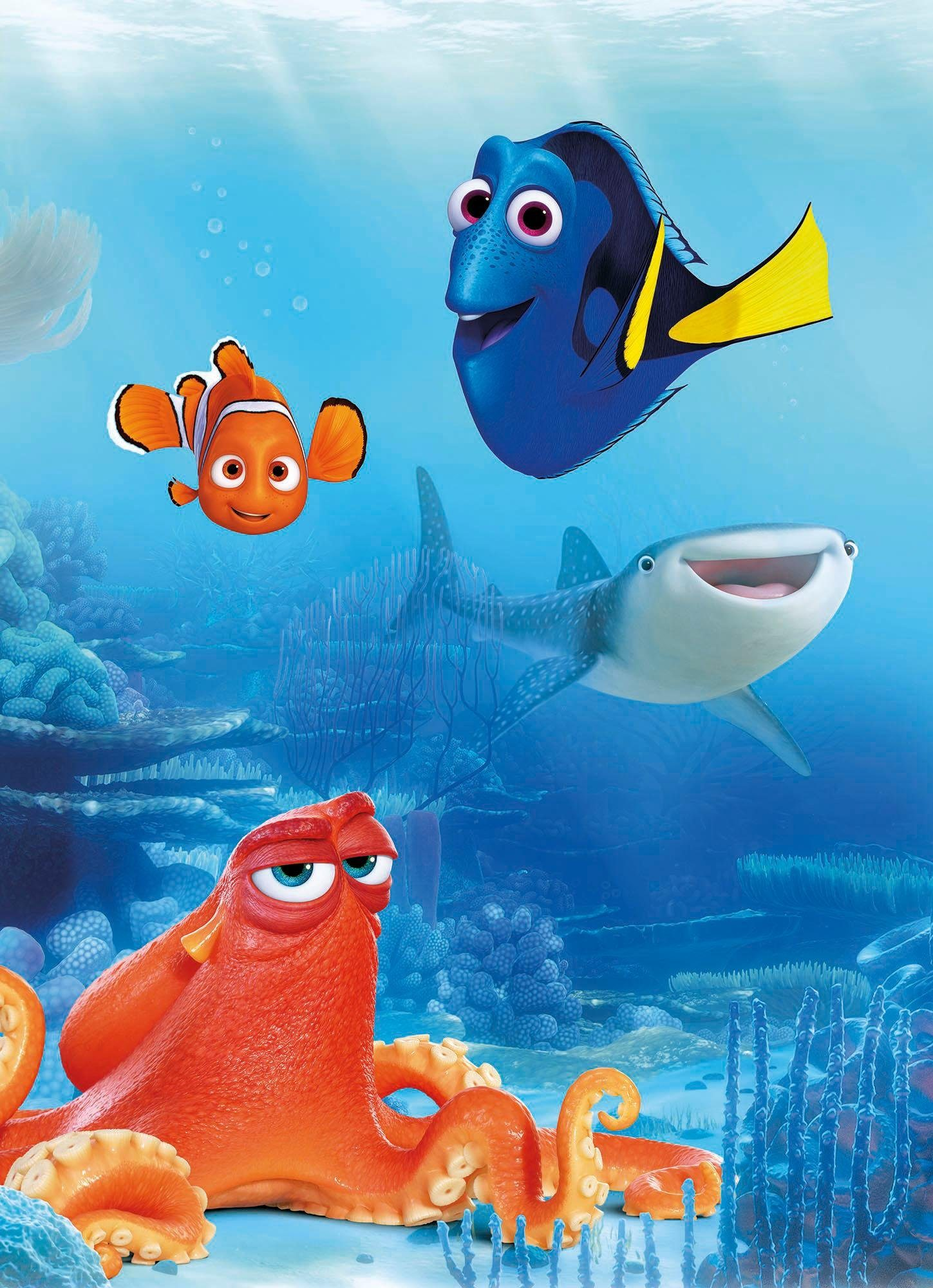 Komar Fototapete »Dory and Friends«, 184/254 cm
