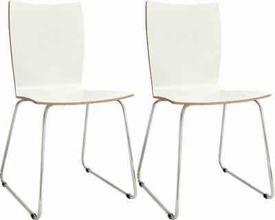 now! by hülsta Stuhl »S 20-2« (Set, 2 Stück), mit Kufengestell aus Chrom