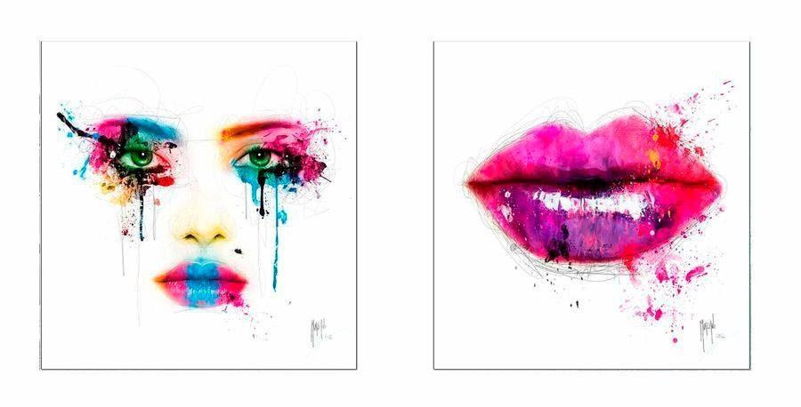 Premium Picture Deco-Panel »Gesicht / Lippen«, 2x 30/30 cm