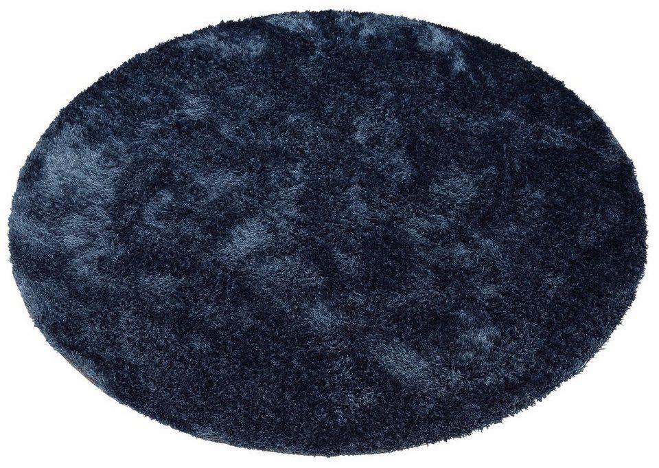 Teppich rund blau  Hochflor-Teppich »Dana«, Bruno Banani, rund, Höhe 30 mm online ...
