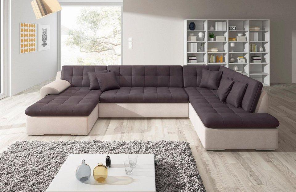 trendmanufaktur wohnlandschaft wahlweise mit bettfunktion. Black Bedroom Furniture Sets. Home Design Ideas