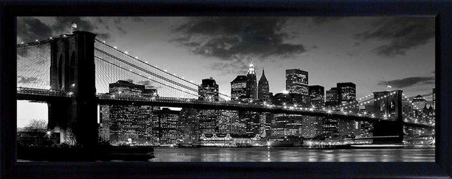 Premium Picture Schattenfugenbild »Brooklyn Bridge/New York«, 90/60 cm