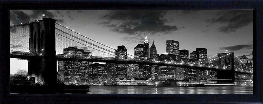Premium Picture Schattenfugenbild »Brooklyn Bridge/New York«, 90/60 cm