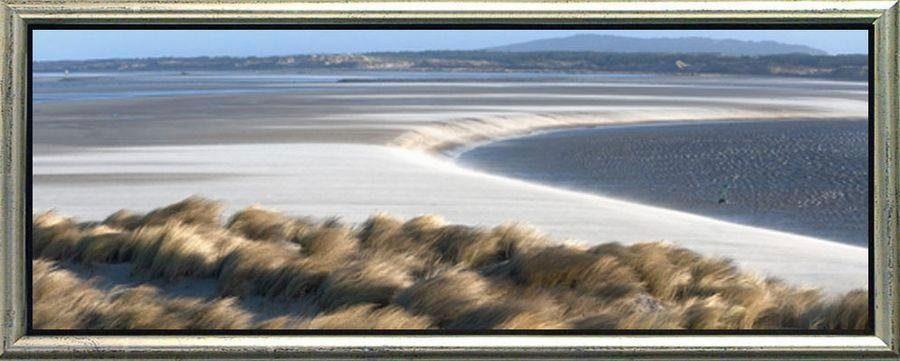 Premium Picture Schattenfugenbild »Dünen und Strand«, 95/33 cm