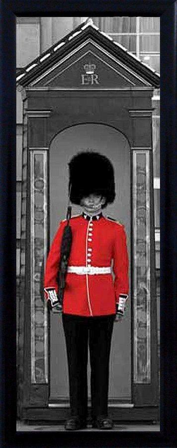 Premium Picture Schattenfugenbild »Wache am Buckingham Palace«, 30/90 cm in grau/rot