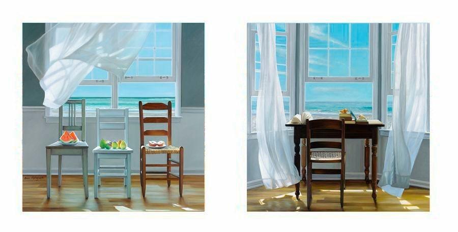 Premium Picture Deco-Panel »Stühle/Stuhl mit Tisch«, 2x 30/30 cm in bunt