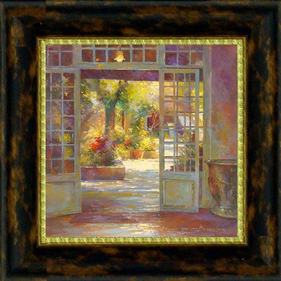 Premium Picture Wandbild »Blick auf die Veranda«, 30/30 cm