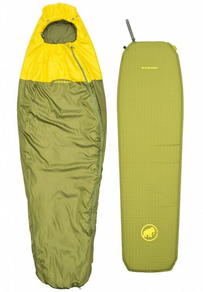 Mammut Schlafsack »Starter Kit Spring Sleeping Bag & Mat« in grün