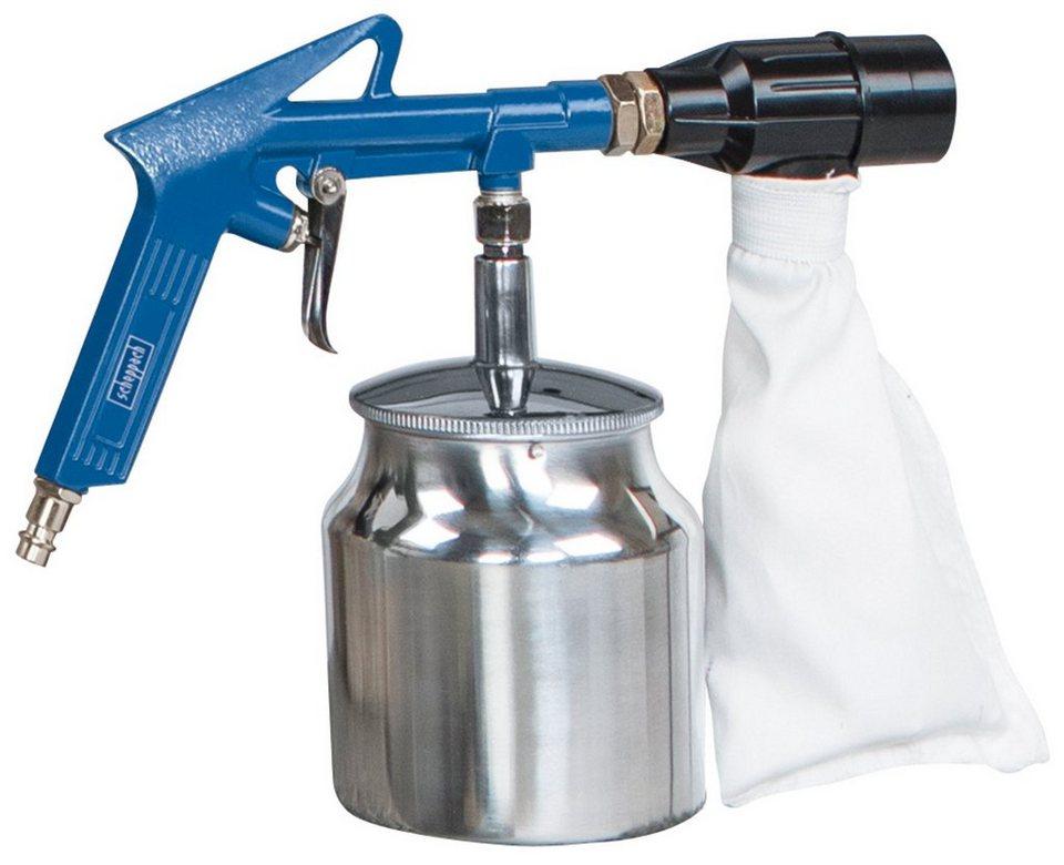 Druckluftzubehör »Druckluftsandstrahlpistole Set« in blau