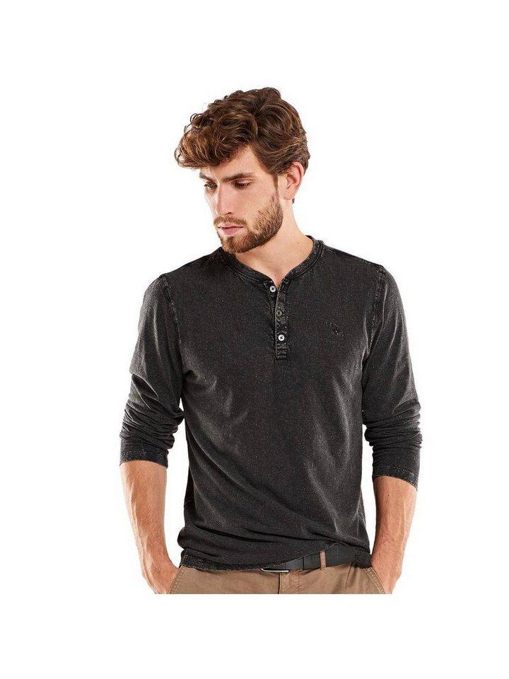 emilio adani Serafino Shirt in Schwarz