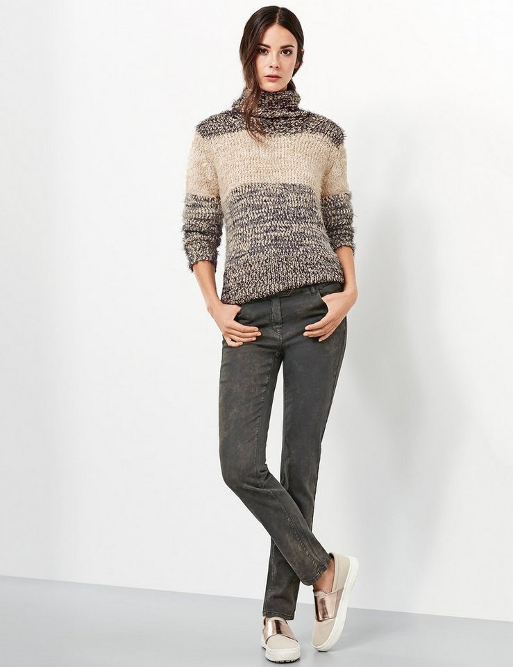 Taifun Hose Jeans lang »Knackige Jeans, Stella« in Schwarz gemustert