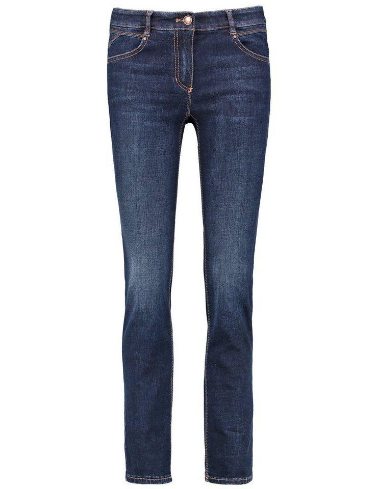Gerry Weber Hose Jeans lang »5-Pocket Jeans« in Dunkel Denim