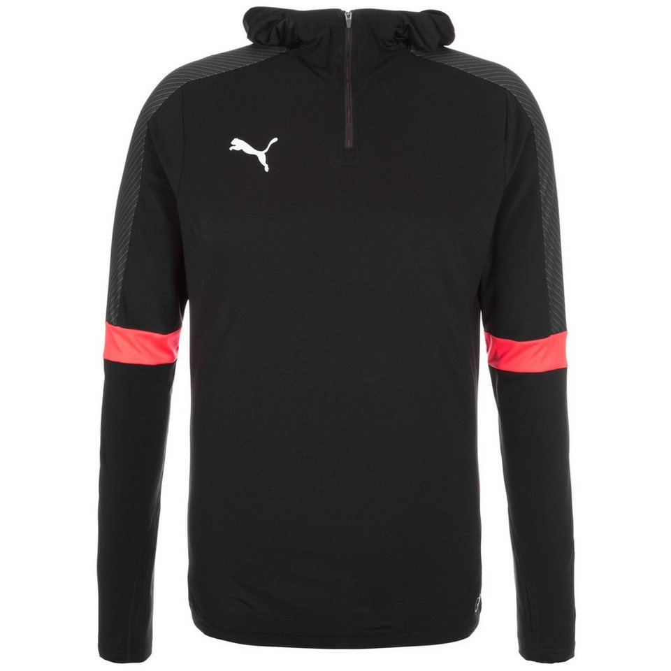 PUMA IT evoTRG Trainingskapuzenpullover Herren in schwarz / neonrot