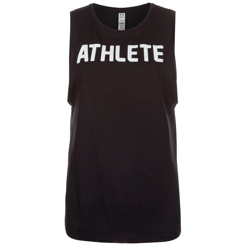 Under Armour® HeatGear Athlete Trainingstank Damen in schwarz / weiß
