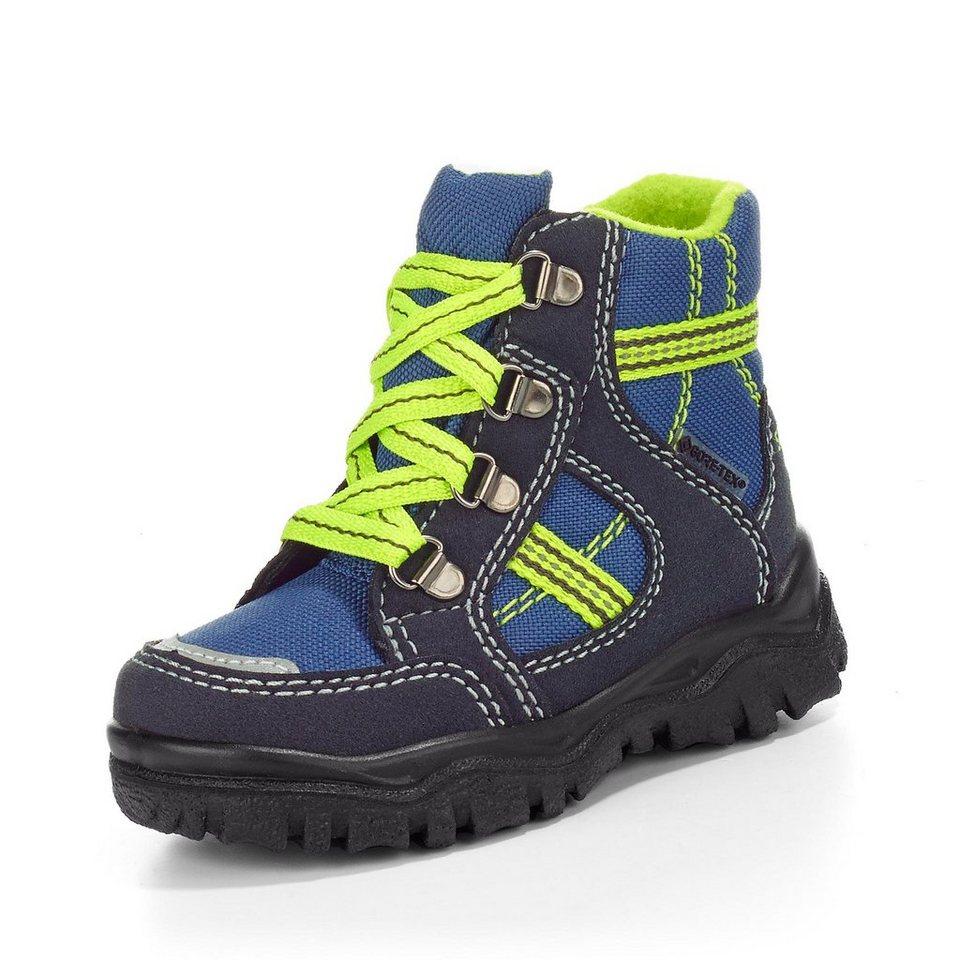 Superfit GORE-TEX® Lauflernschnürstiefel in marine/blau/neongrün