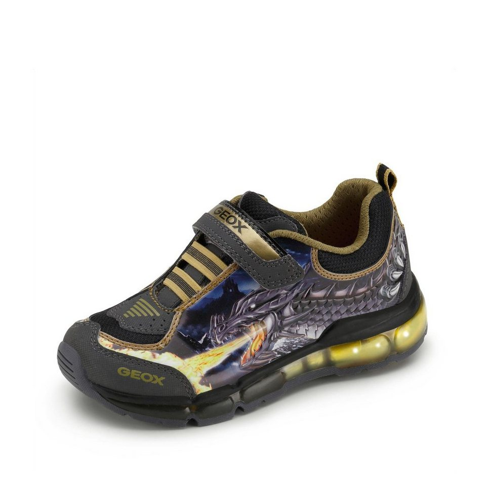 Geox Android Boy Halbschuh in anthrazit/gold/khaki