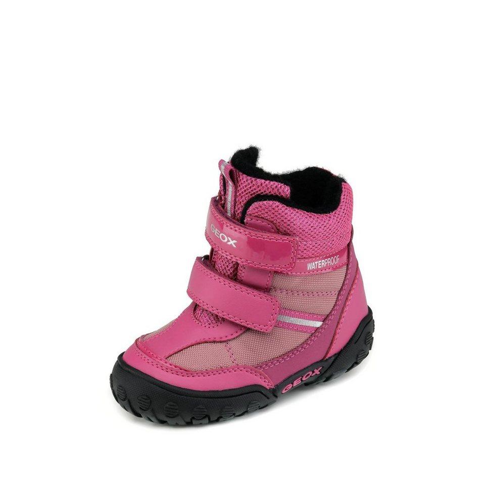 Geox Gulp Girl wasserdichter Lauflernstiefel in pink