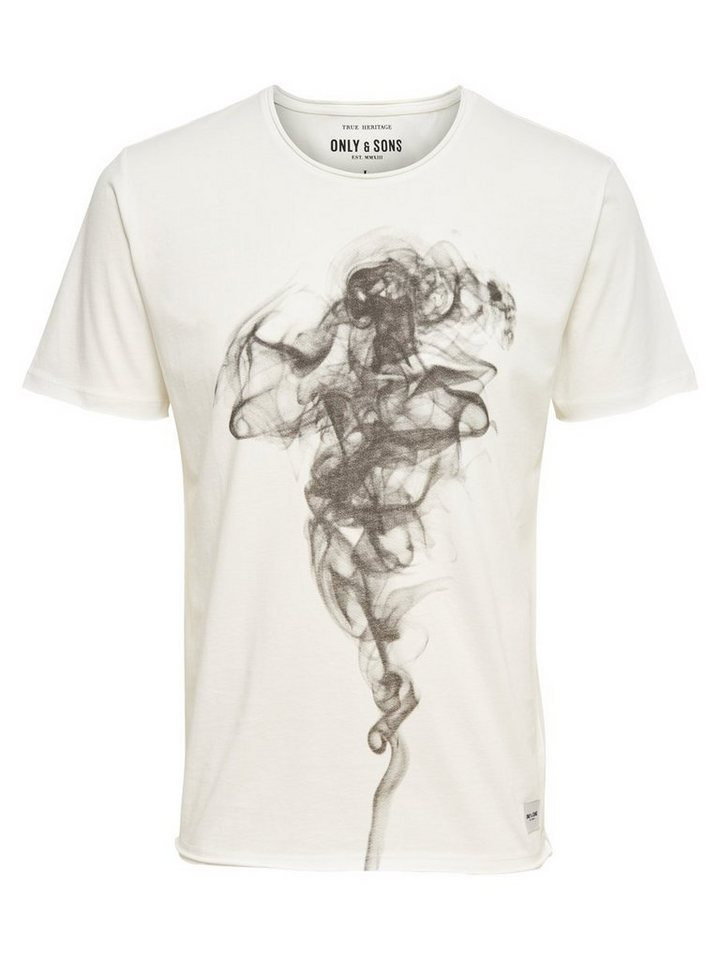 ONLY & SONS Bedrucktes T-Shirt in White