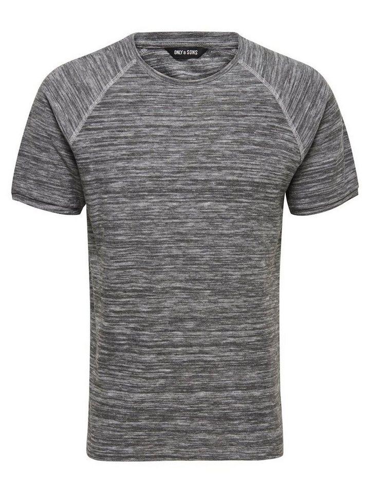 ONLY & SONS Kurzärmeliges T-Shirt in Medium Grey Melange