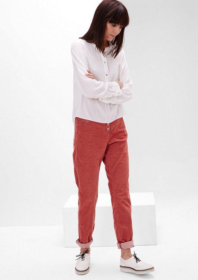s.Oliver RED LABEL Smart Chino: Stretch-Cordhose in tandoori red