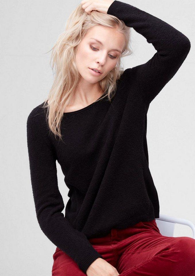 s.Oliver RED LABEL Pullover in Bouclé-Optik in black