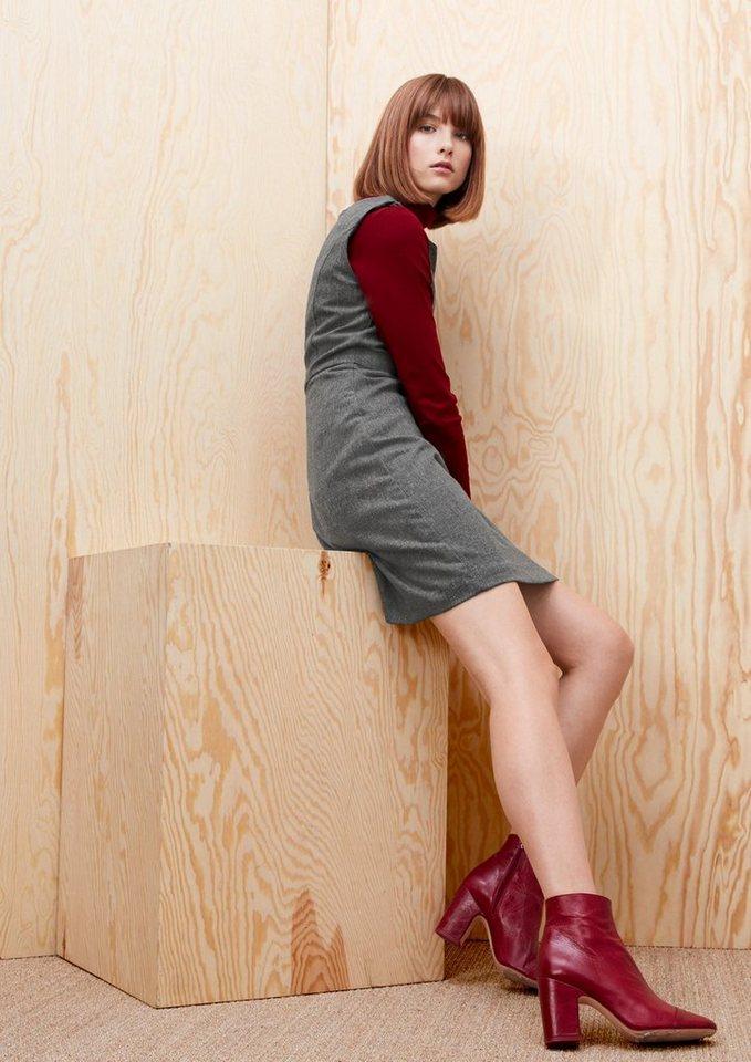 s.Oliver RED LABEL Kurzes Kleid aus Tweed in pewter grey melange