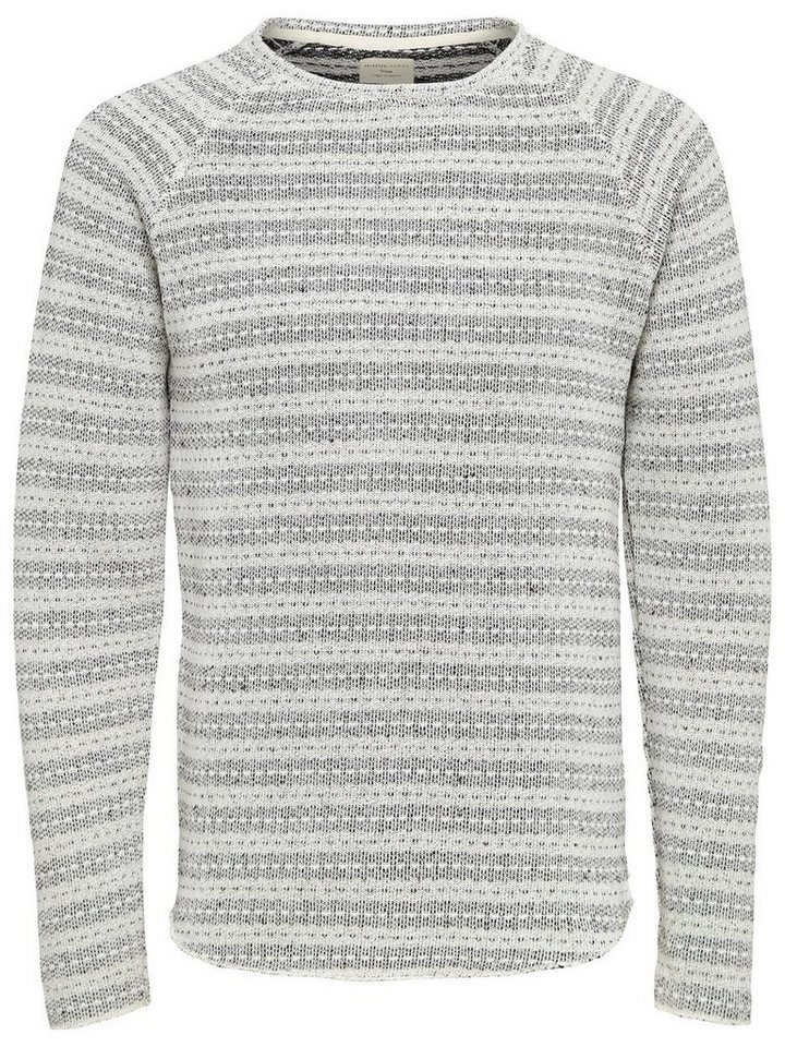 Selected Crew Neck- Sweatshirt in Marshmallow