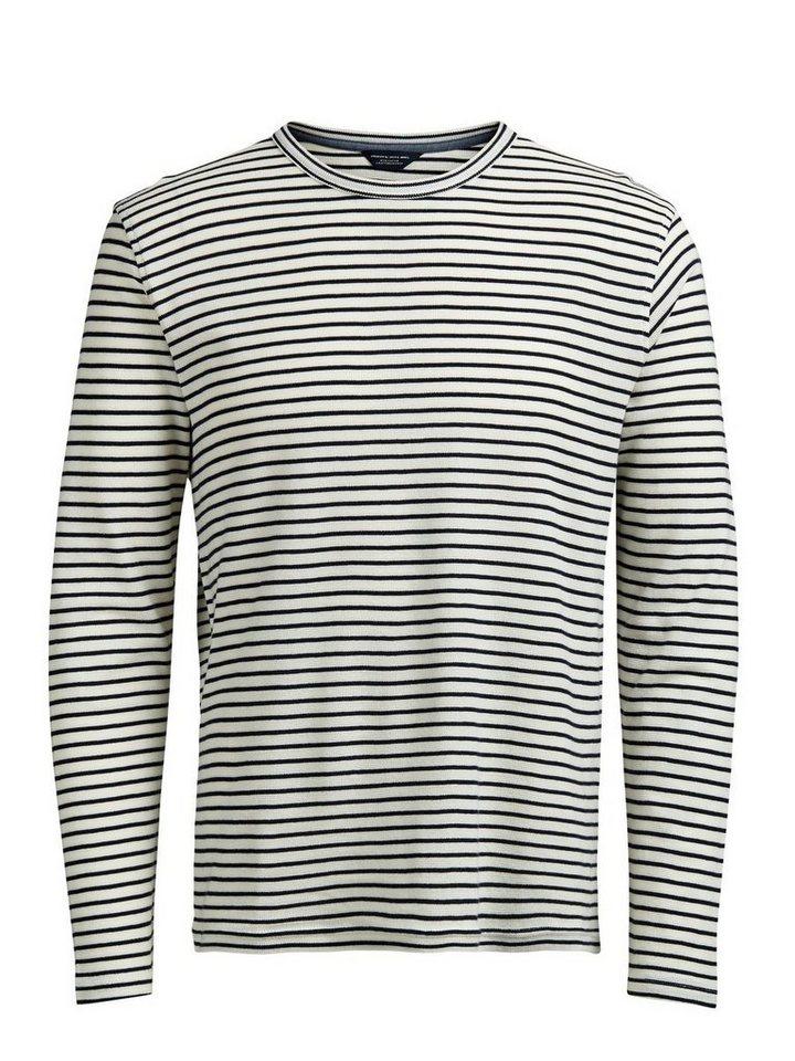 Jack & Jones Gestreiftes Sweatshirt in Whisper White