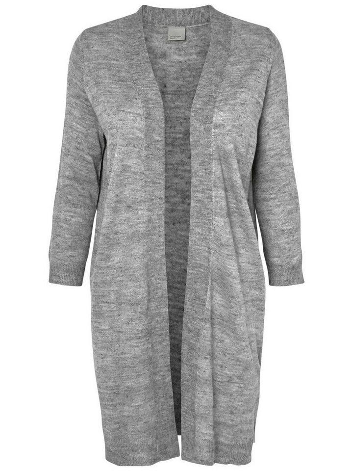Vero Moda Gestrickte Strickjacke in Light Grey Melange