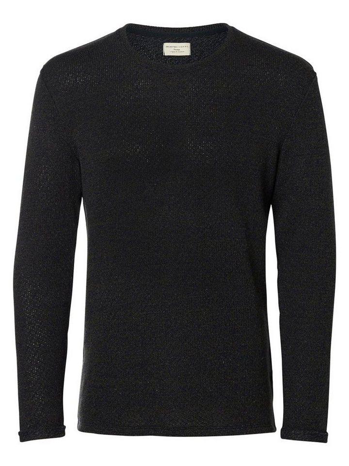 Selected Crew-Neck- Sweatshirt in Blue Nights